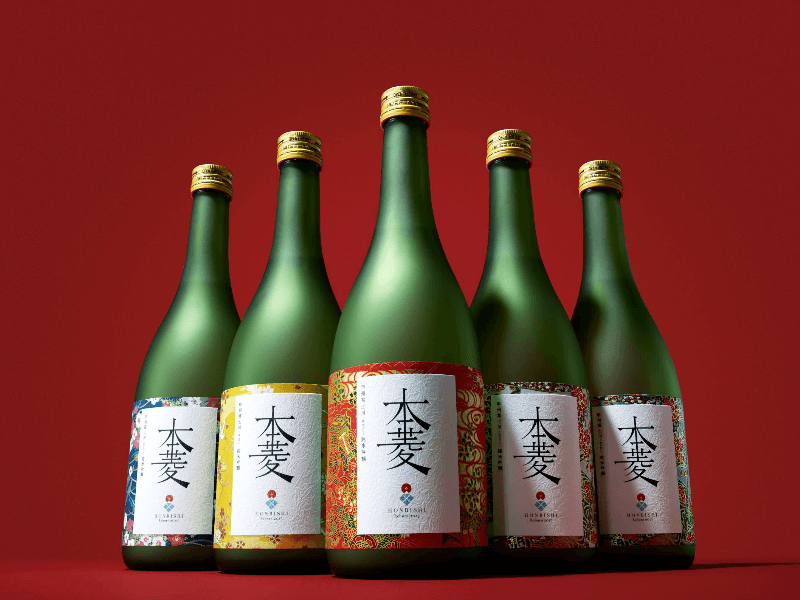 120年前の幻の日本酒「本菱」のボトル