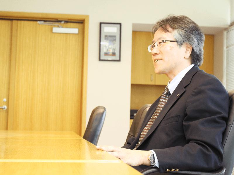 米国月桂冠副社長浪瀬様へのインタビュー写真