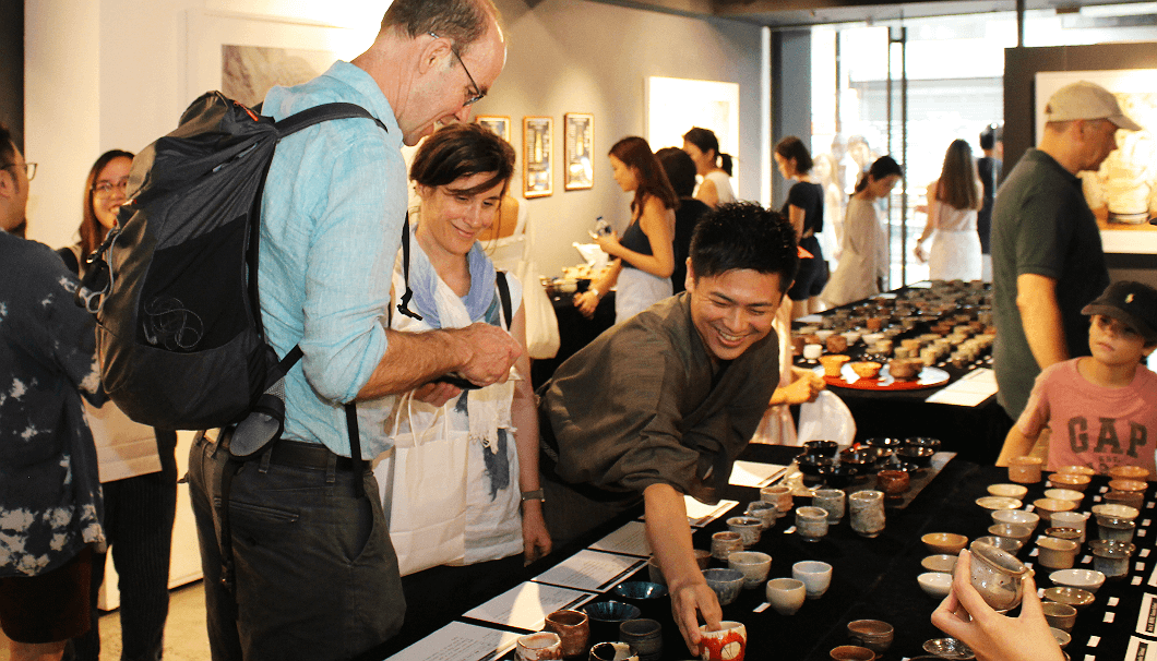東京・神楽坂に6年前からお店を構える和食店兼ギャラリー「ふしきの」にてイベントの様子