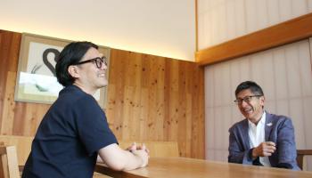 菊水酒造・高澤社長とKEITA MARUYAMA・丸山敬太