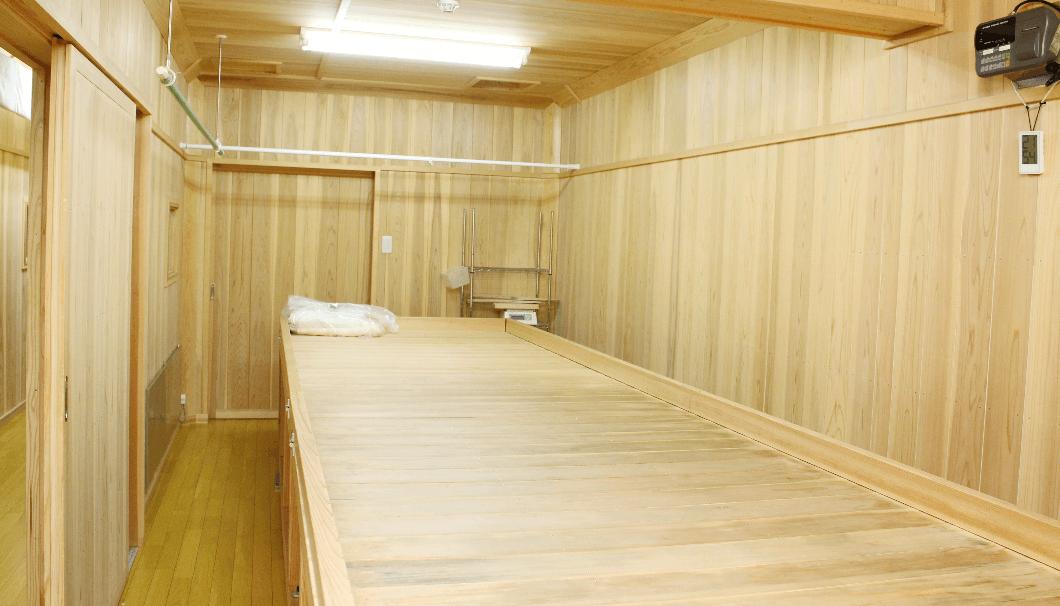 新調した麹室