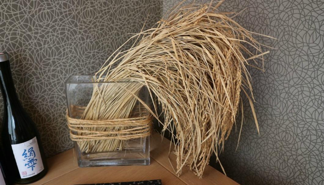 「絹の雫」に使用されるお米の穂