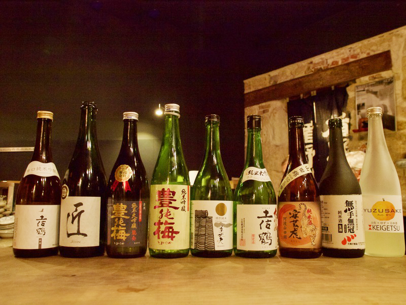 イベントで提供された土佐の日本酒