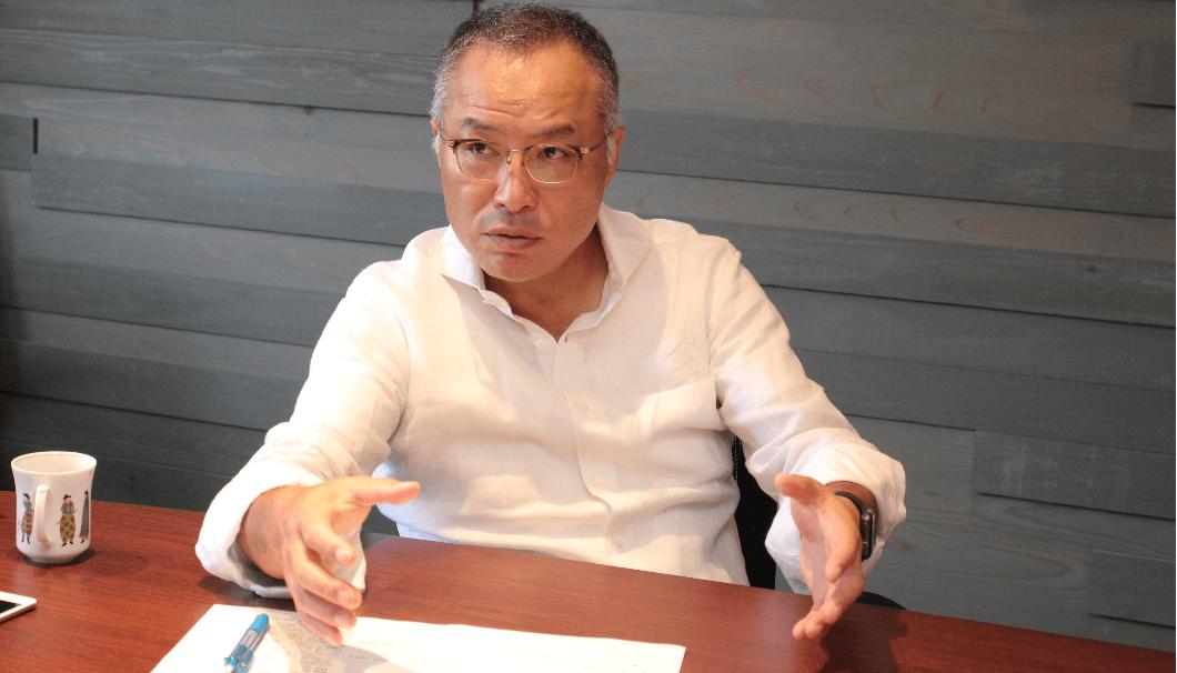 インタビューに答える八海醸造・南雲次郎氏