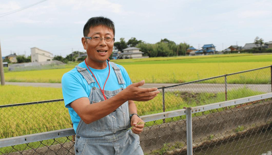 中山農場取締役の中山研二さん