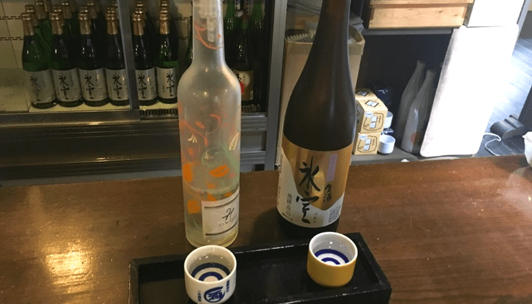 二木酒造「大吟醸H TAMANOI」と「氷室 純米大吟醸 生酒」のお酒