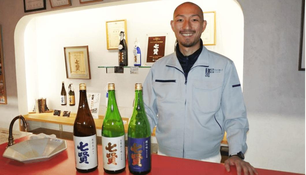 七賢の蔵元杜氏、北原亮庫さんの笑顔写真