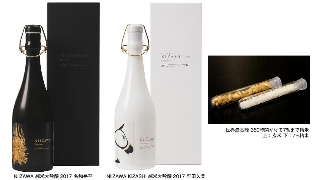 株式会社アートローグは、株式会社 新澤醸造店と共に企画して7%まで発売した精米した世界最高級の日本酒 「NIIZAWA」と「NIIZAWA KIZASHI」の2017年版
