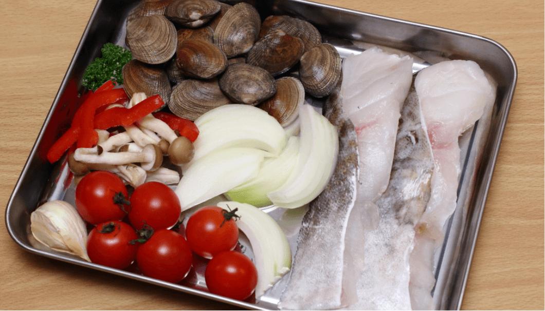 鱈のアクアパッツァの材料