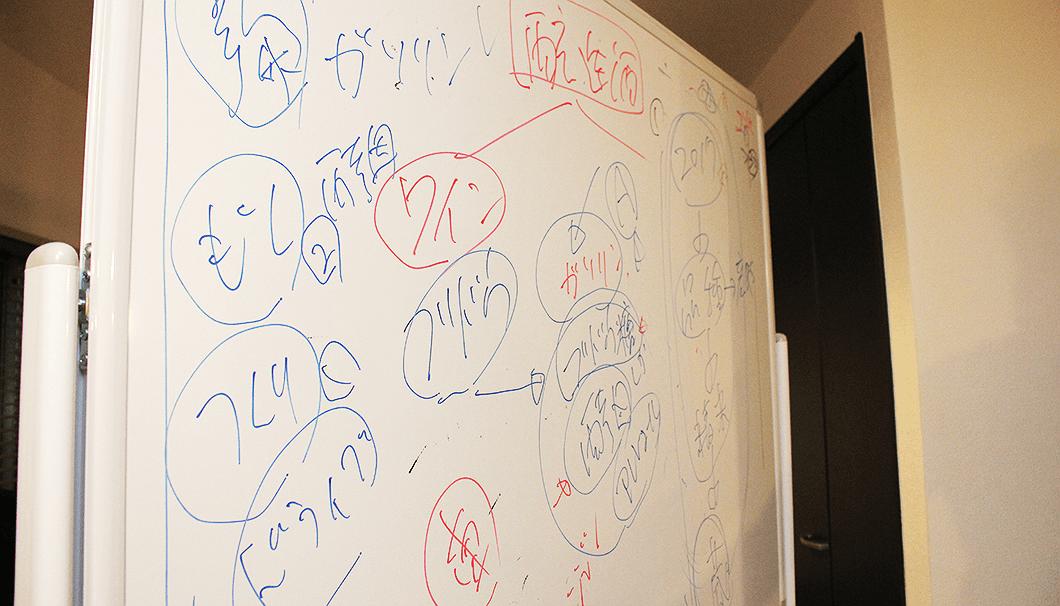 「醸し人九平次」日本酒出張セミナー・ホワイトボード