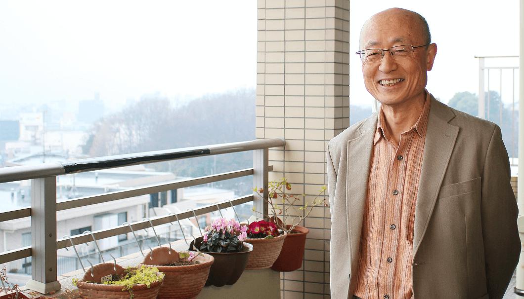 神奈川県相模原市にあるアトリエ「パスタイム」にて、加藤忠一さん76歳