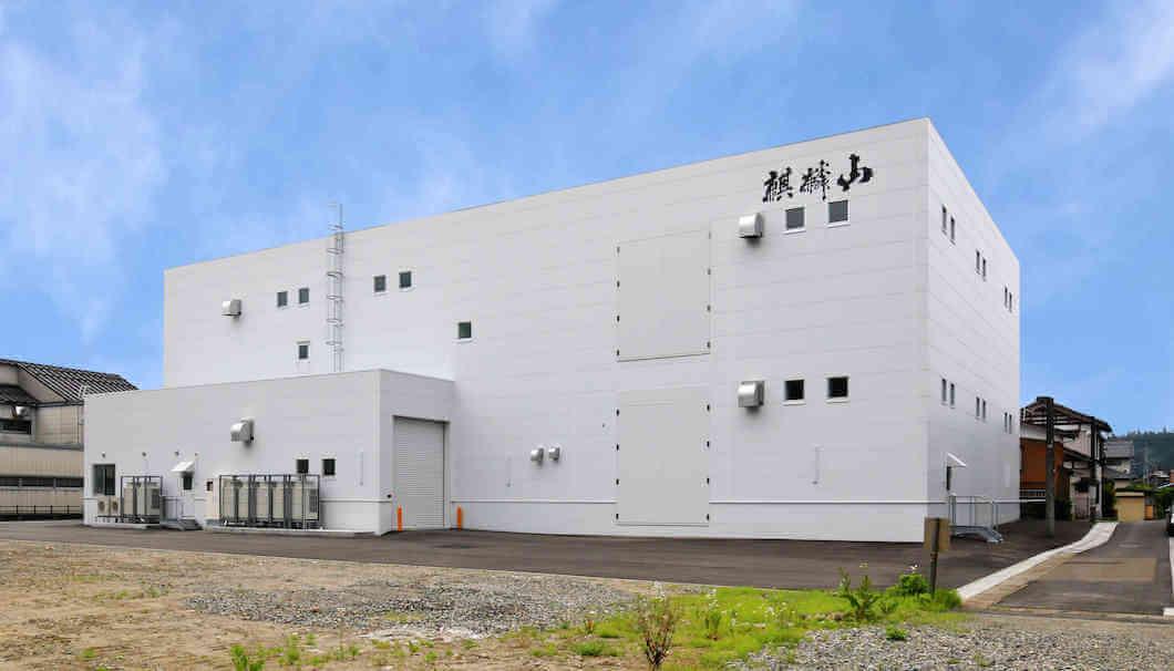 2016年7月につくられた麒麟山酒造の新しい貯蔵施設「鳳凰蔵(ほうおうぐら)」