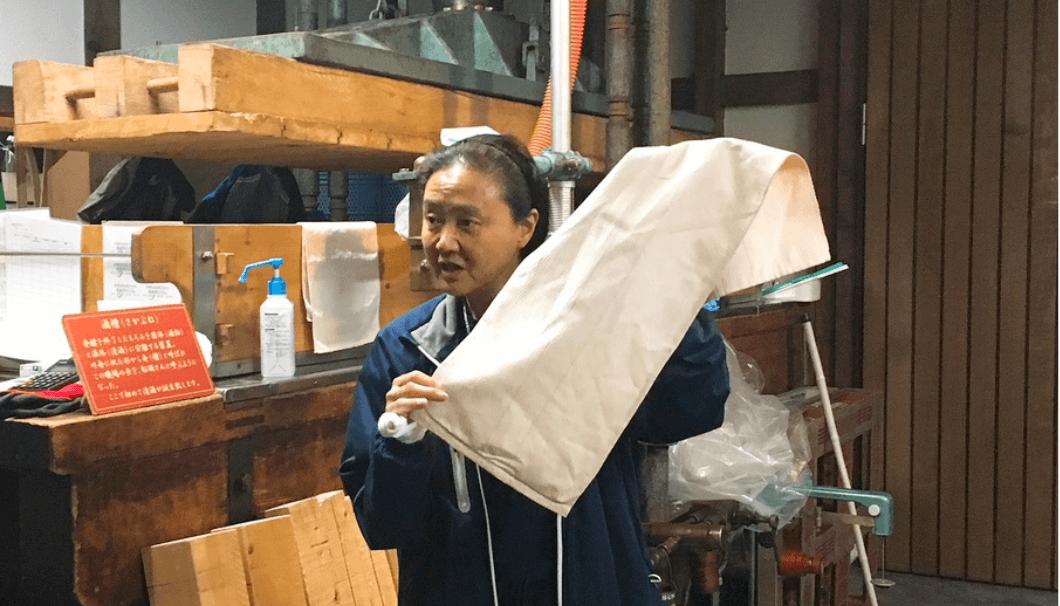 国稀酒造で使われていた酒袋