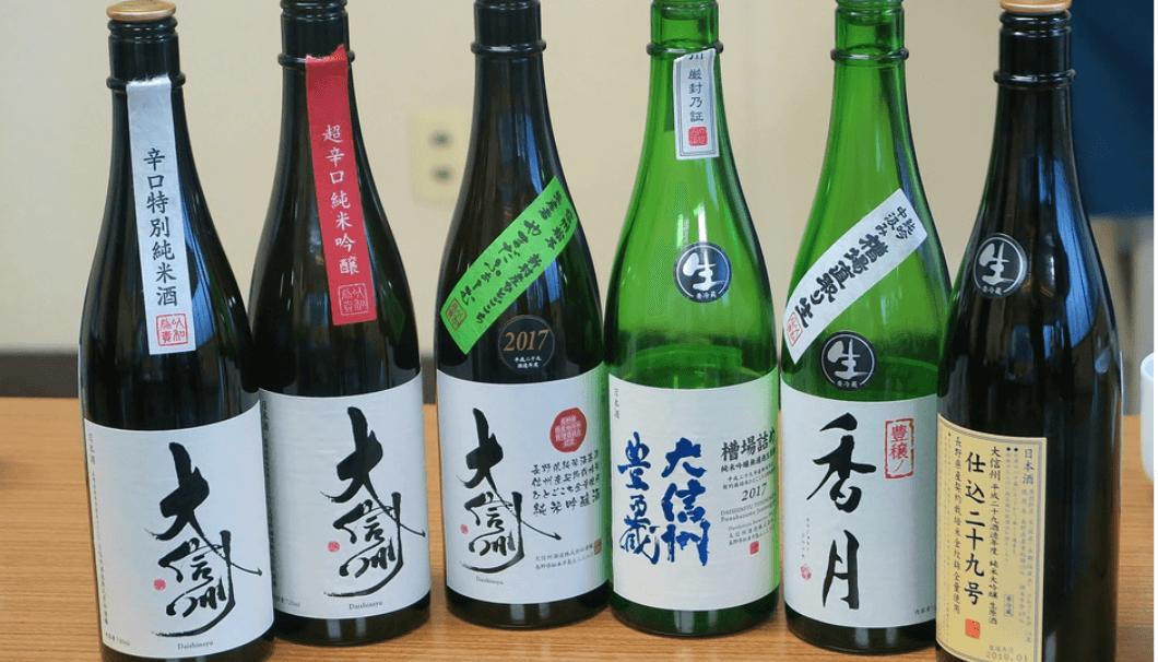 大信州のお酒ラインナップ
