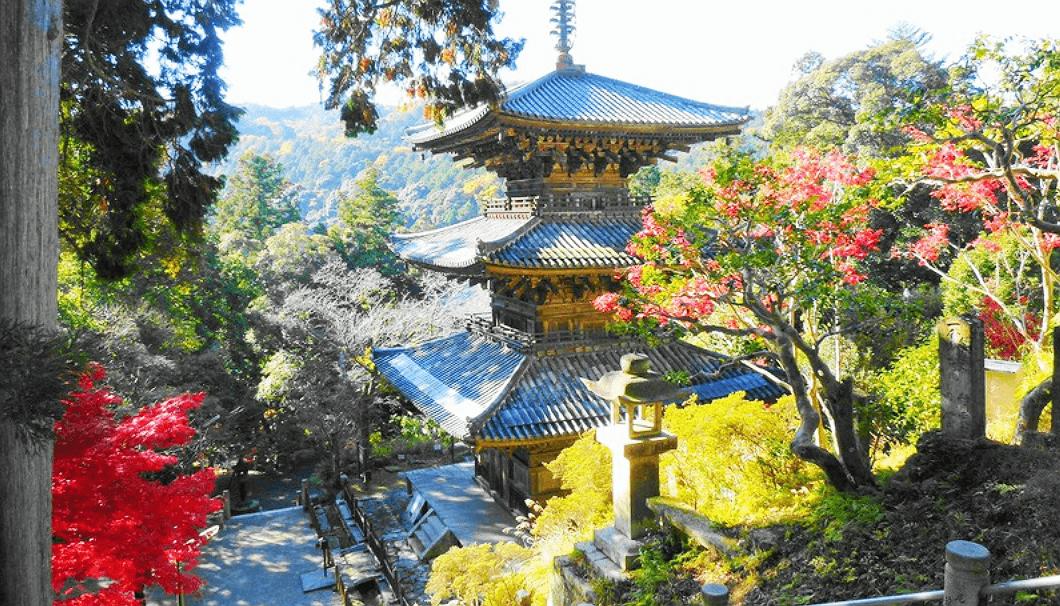 法華山一乗寺の三重塔