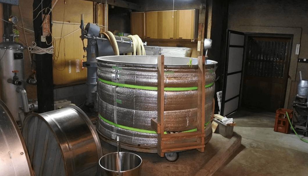 白杉酒造の蔵内