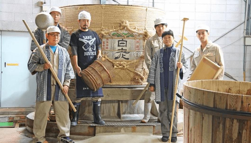 澤田酒造の蔵人たち