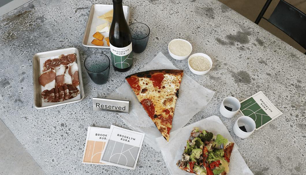ピザやチーズなど、アメリカ人にも親しみのある食とのペアリングもおいしいブルックリン・サケ