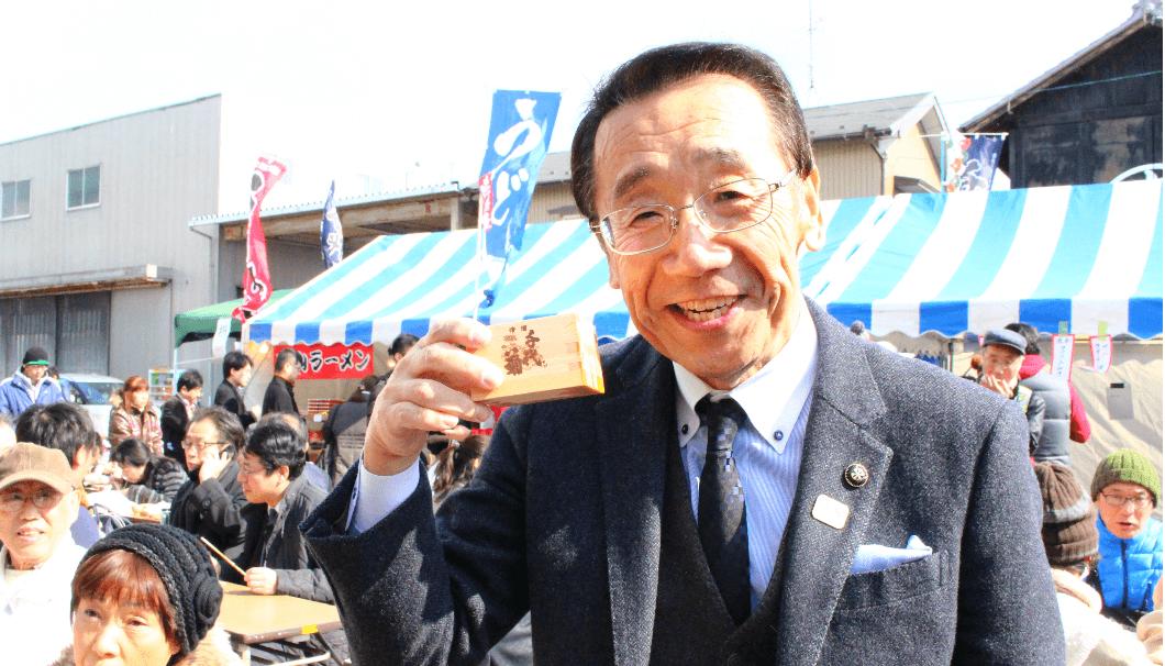 千代菊の蔵開きに参加した松井市長