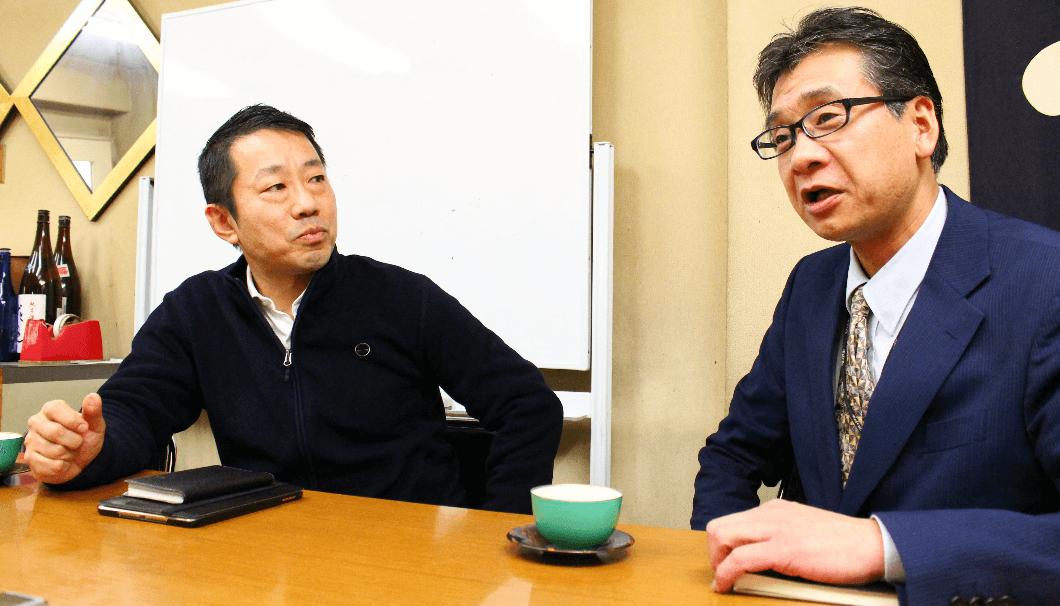 話をする東京営業所所長・樋口信之さん