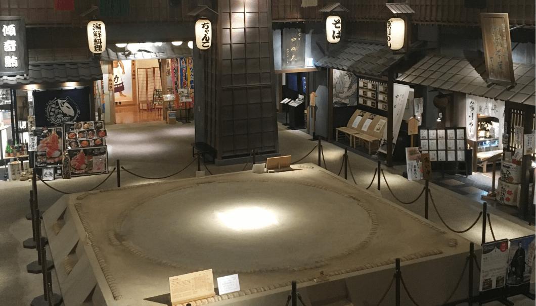 江戸NOREN内にある両国国技館と同じサイズの土俵