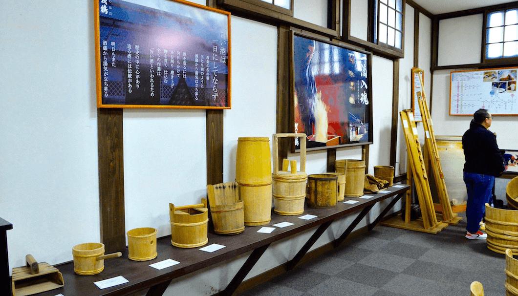 賀茂鶴の見学スペース