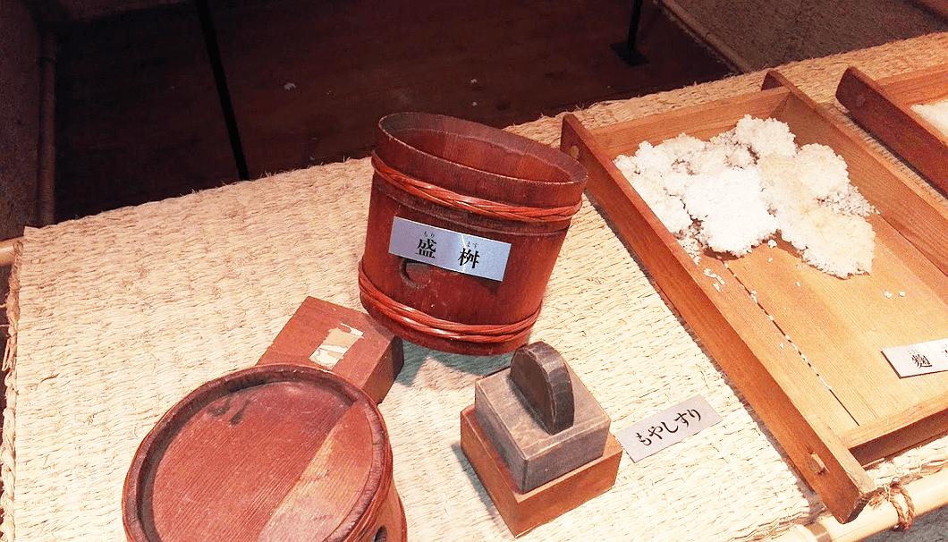 酒造りに使われていた道具類