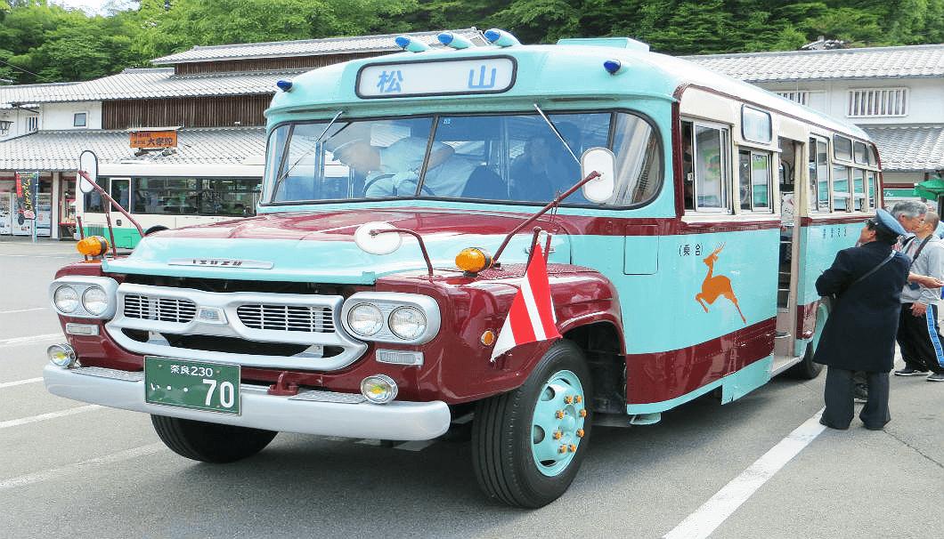 松山自動車商会のボンネットバス