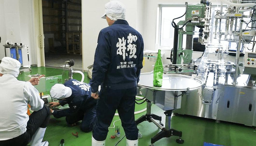 加賀の井酒造の新しい酒蔵の様子