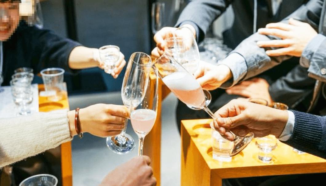 スパークリング日本酒で乾杯