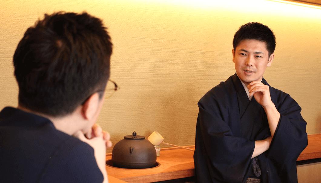 ふしきの宮下さんとSAKETIMES代表生駒さんの対談の様子