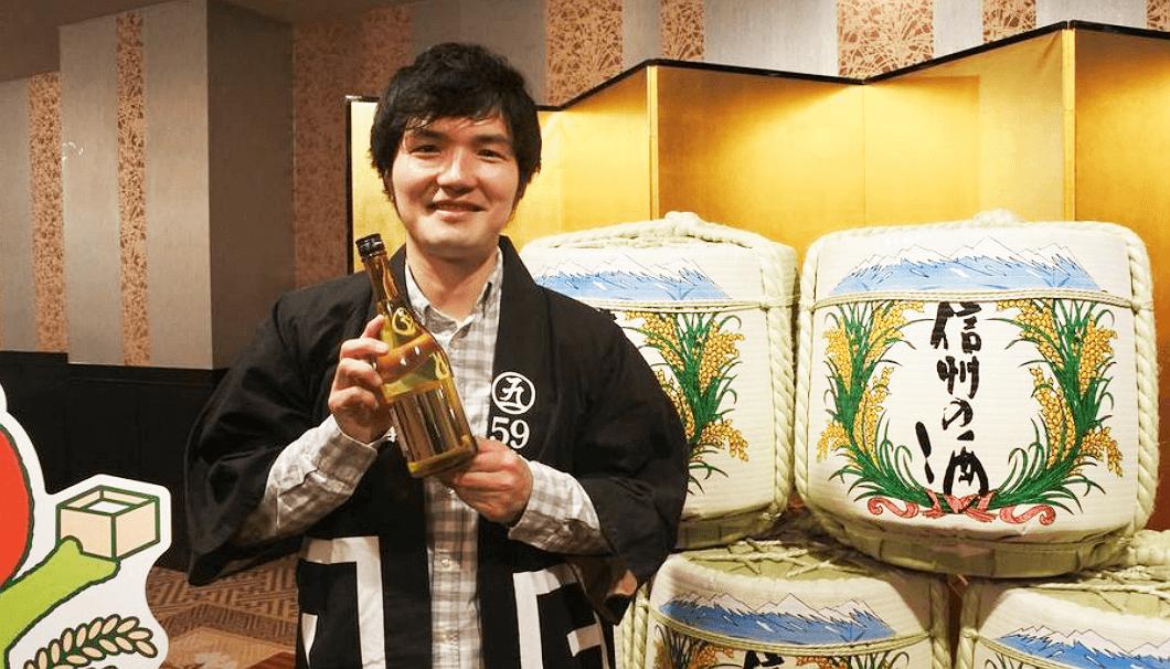 「59醸」の関晋司さん(丸世酒造店)