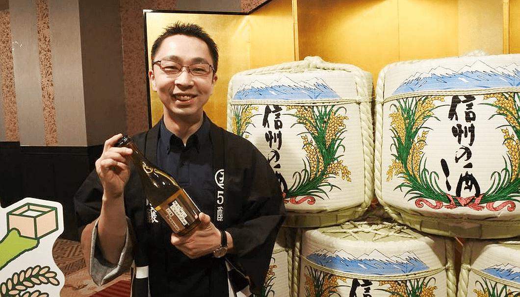 「59醸」の沓掛正敏さん(沓掛酒造)
