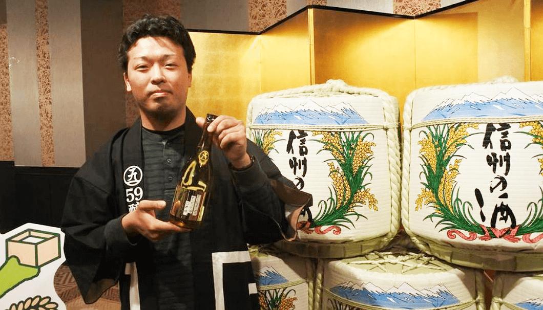 「59醸」の飯田淳さん(東飯田酒造店)