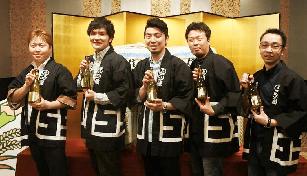 長野の若手酒蔵ユニット「59醸」のメンバー