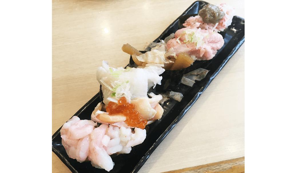 「回転寿司江戸ッ子」の大漁6点盛り