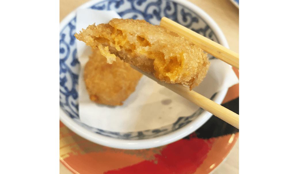 「回転寿司江戸ッ子」のうにクリームコロッケ