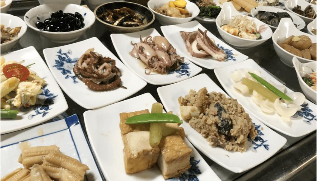 名古屋の飲食店「大甚」のお惣菜の写真