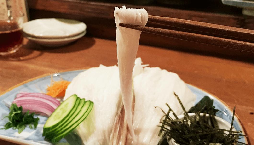 名物料理「長芋そうめん」