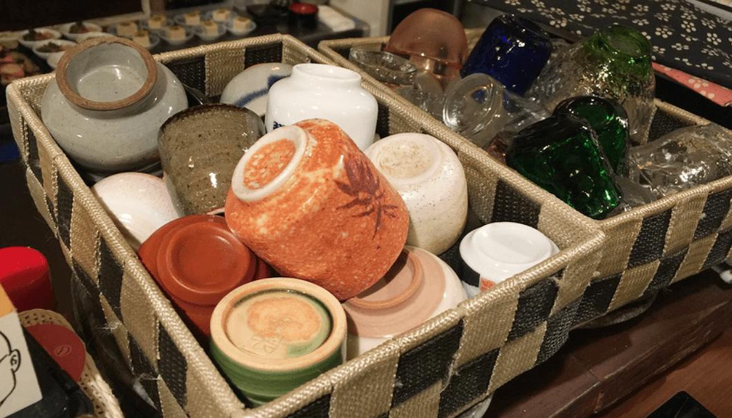 「彩膳ちくら」の酒器