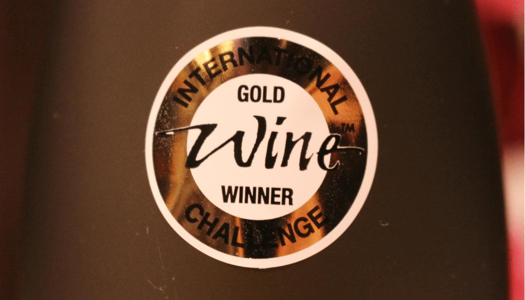 IWC SAKE部門で受賞した酒瓶に貼られるシール