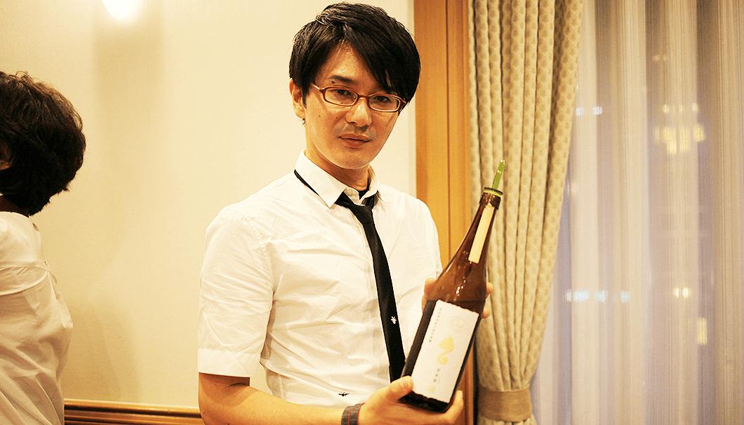 新政酒造の佐藤祐輔さん