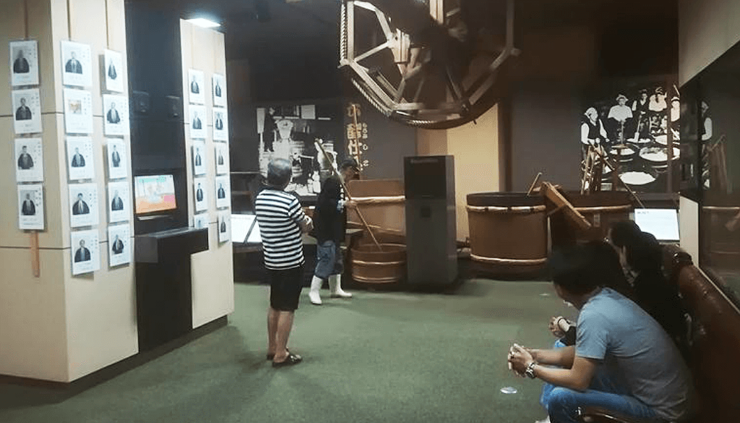 丹波杜氏記念館での酒造り唄の実演