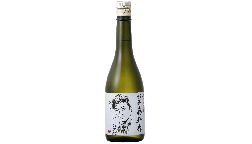 旭酒造と漫画家 弘兼憲史氏がタッグを組み、西日本豪雨被災者支援商品として販売する「獺祭 島耕作」のボトル写真