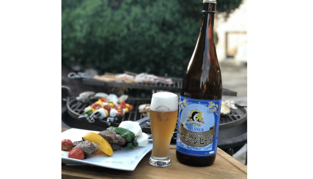 BBQとビール瓶の画像