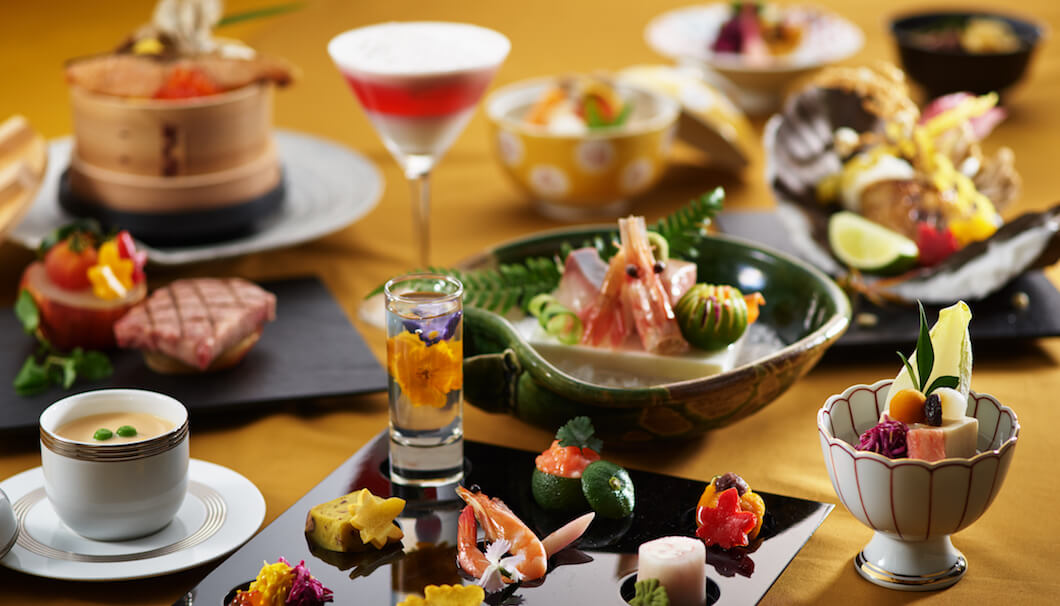 新発田の観光名所・月岡温泉の老舗旅館「月岡温泉 白玉の湯 泉慶」で提供される料理イメージ
