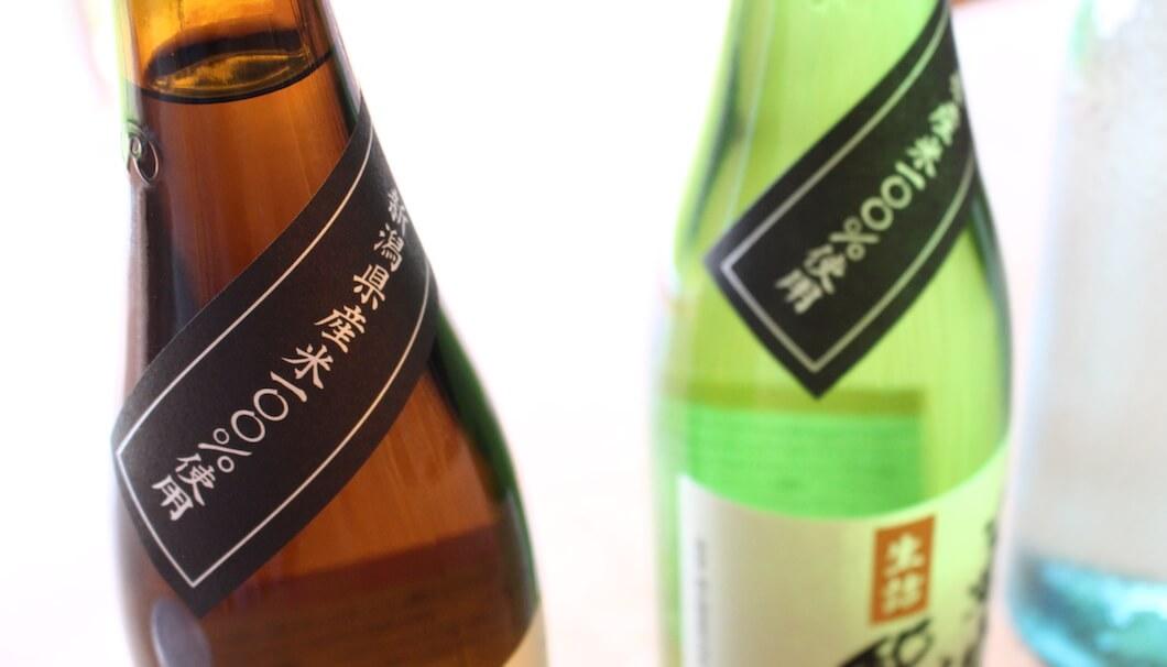 定番商品・菊水の辛口にも「新潟県産米100%使用」の表示が