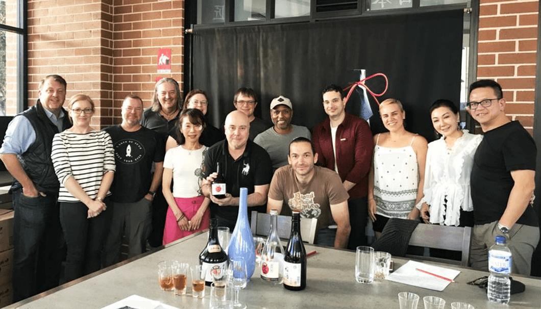 シドニーのSake教室「Discover Aged Sake」の参加者たち