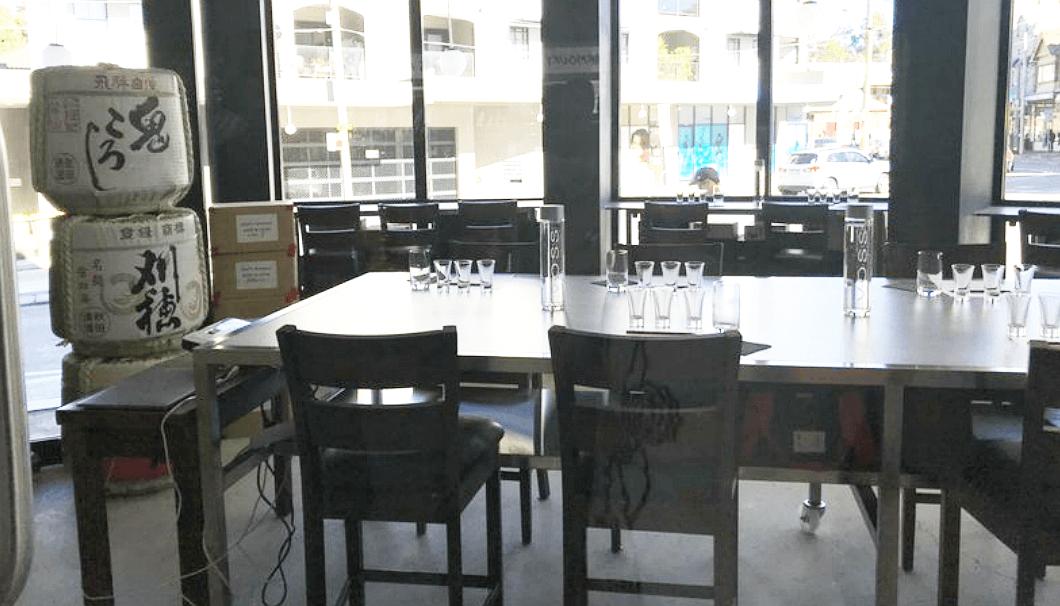 シドニーのSake教室「Discover Aged Sake」の会場