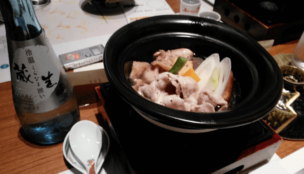 西条名物の「美酒鍋」
